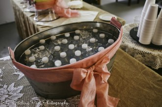 Water in galvanized tub