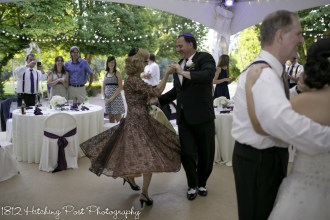 Groom dancing with bride's mother