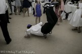 Groom break dancing