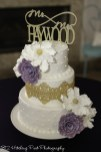 Edible gold lace with sugar flowers