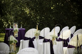 Plum sashes