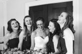 Bride and bridesmaids before ceremony
