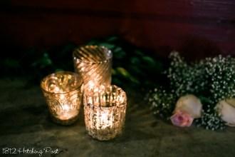 Mercury glass gold votives