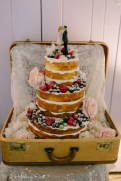 Naked cake decorated with fruit