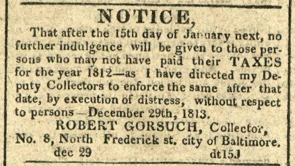 American and Commercial Daily Advertiser, December 29, 1814