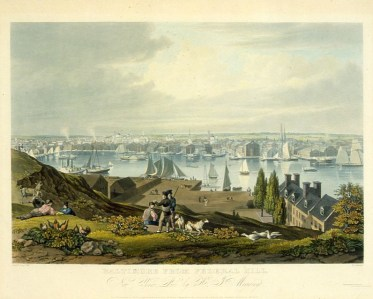 View from Federal Hill, 1822. Library of Congress.