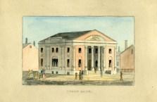 Union Bank from J.H.B. Latrobe's Picture of Baltimore (1832). Johns Hopkins University Sheridan Libraries, F 189.B1 P53 1842 QUARTO.