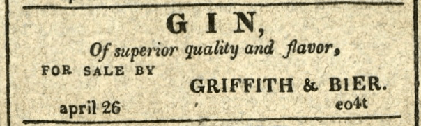 Advertisement: Gin, Of superior quality and flavor