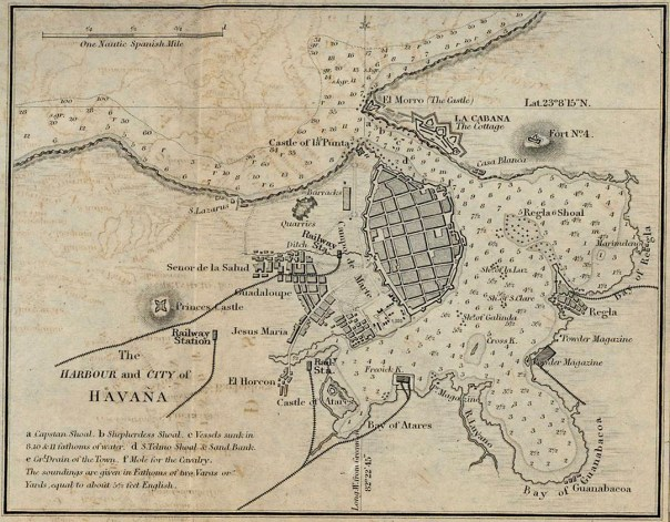 Havana Harbour and City From A Dictionary, Practical, Theoretical, and Historical of Commerce and Commercial Navigation, by J. R. (John Ramsay) McCulloch, 1882.
