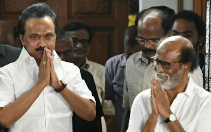 Superstar Rajinikanth meets M.K. Stalin and donates for COVID 19 relief – Tamil News – IndiaGlitz.com