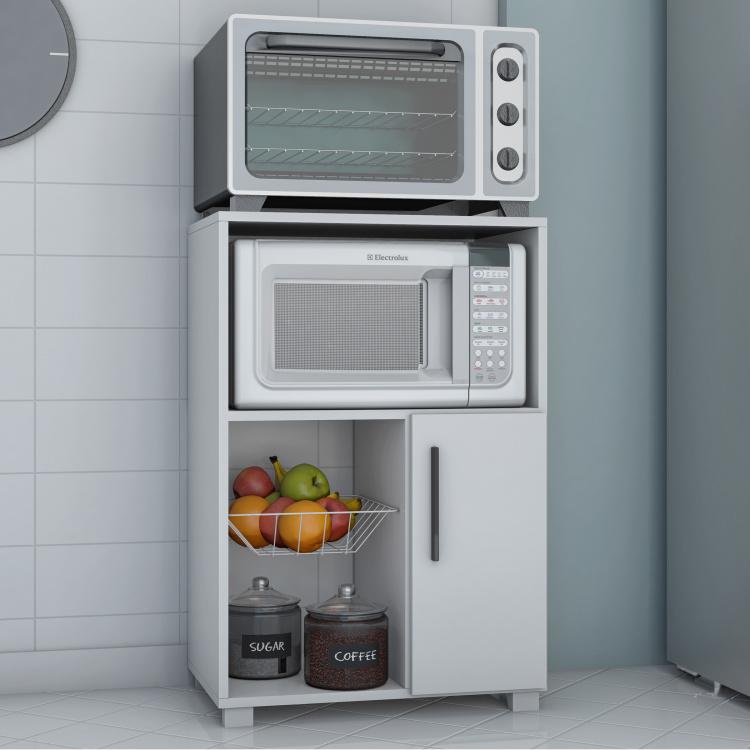 salvador microwave cart with 1 door cabinet