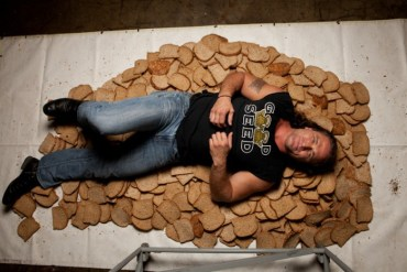 Winter-2012-Oregon-Ventures-Dave-s-Killer-Bread-Dave-Dahl-in-pile-of-bread