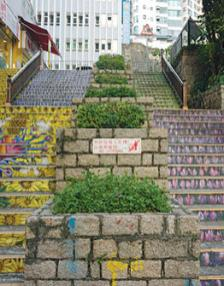 Be prepared—Hong Kong is built on a hill with many steps.