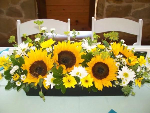 sunflower as outdoor wedding decor