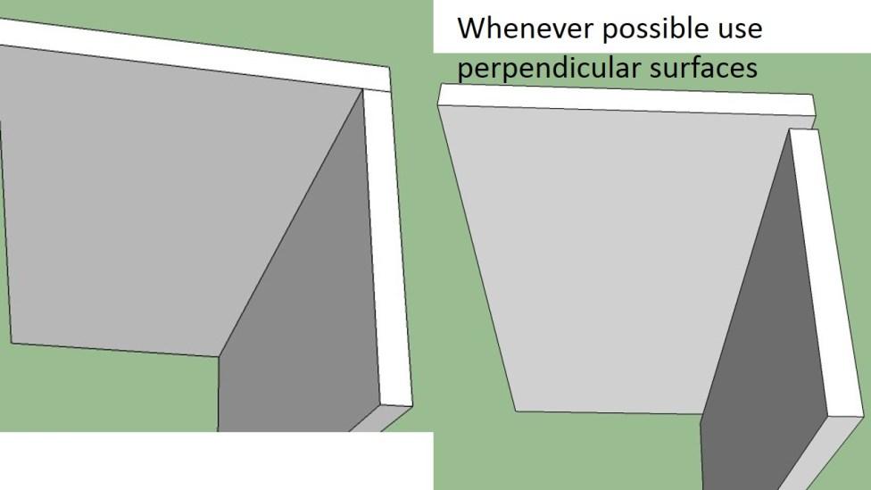 Perpendicular Surfaces