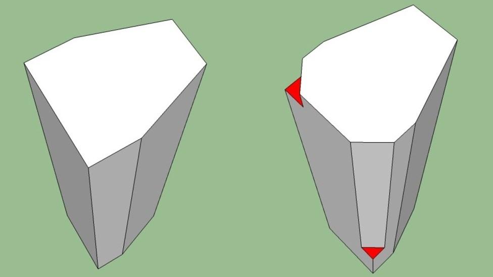 odd wedge shape