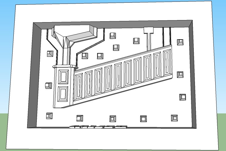 Bridge Master mold end piece Left side (A)