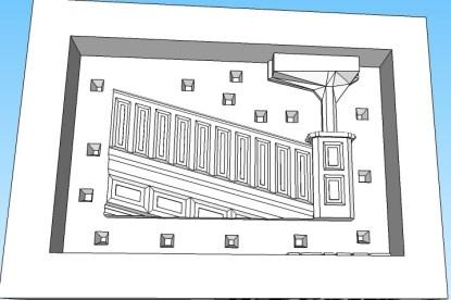 Bridge Master mold end piece Left side (B)