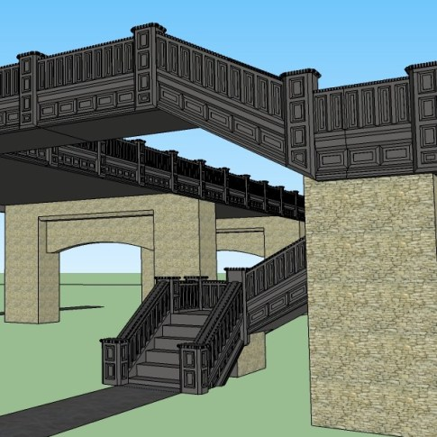 Raised highway with stairs 6 (2)