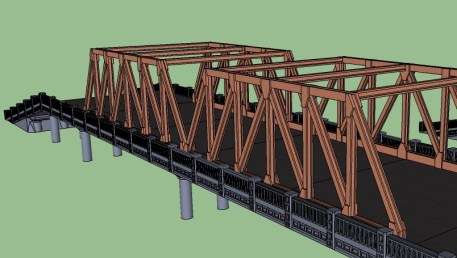 6inch 15mm bridge Howe Truss 4