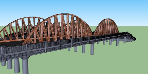 6inch 15mm bridge Truss concept 3