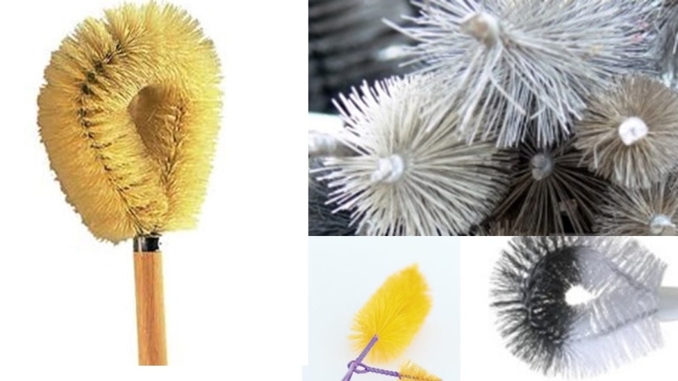 Twisted wire brush