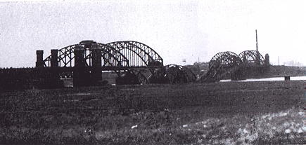 The railroad bridge at Dusseldorf, Germany
