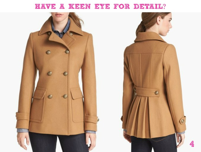 Kristen Blake skirt back pea coat