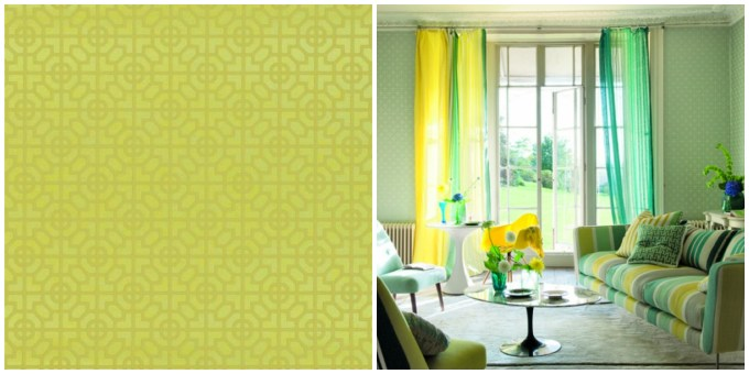 SUSSEX CHARTREUSE WALLPAPER DESIGNERS GUILD