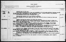 20th Battalion War Diary for August 1, 1918