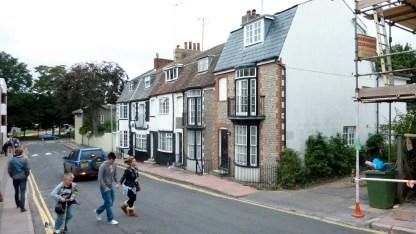 houses opposite halls