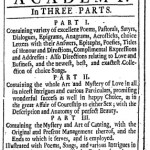 """Spring is Come!  And with it a """"Triumph of Wit"""" from 1712"""