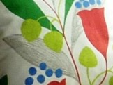 Sanderson BellFlower fabric cushion
