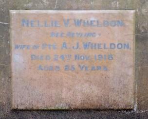 Nellie Wheldon's plaque