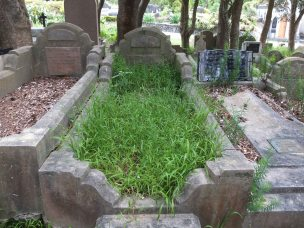 Gertrude & Baby Fitzgerald's grave - before photo