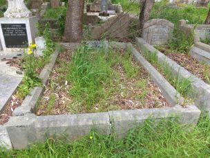 Charlotte Hoyle's grave - before photo