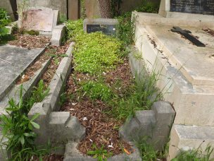 Charles Rogers' grave - before photo