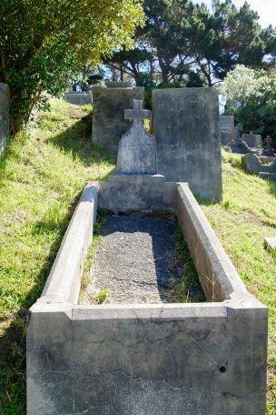 Joseph Quirk's grave - before photo