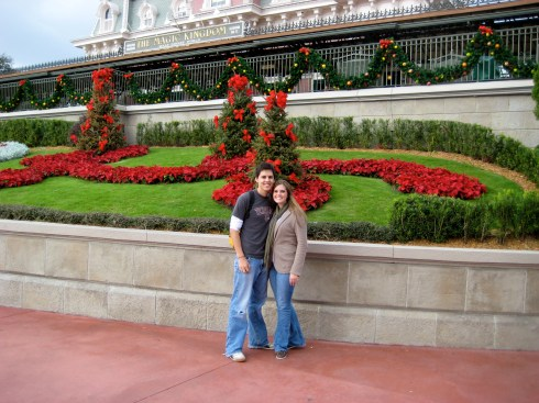 Entering Magic Kingdom in 2008 - Louis had no idea what he was in for!
