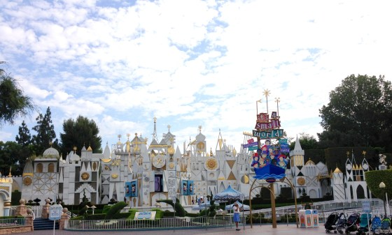 The facade here is much larger than Disney World's!
