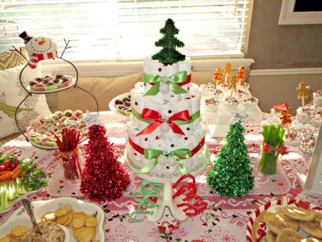 1 Christmas Gender Reveal Table