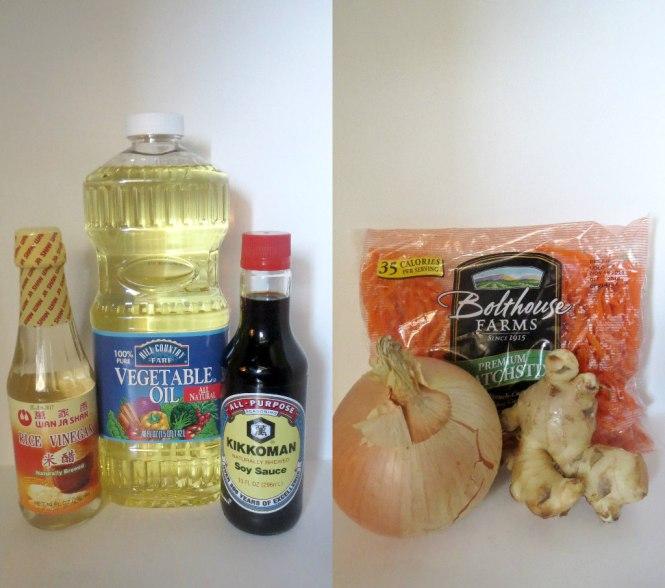 2 ginger dressing ingredients