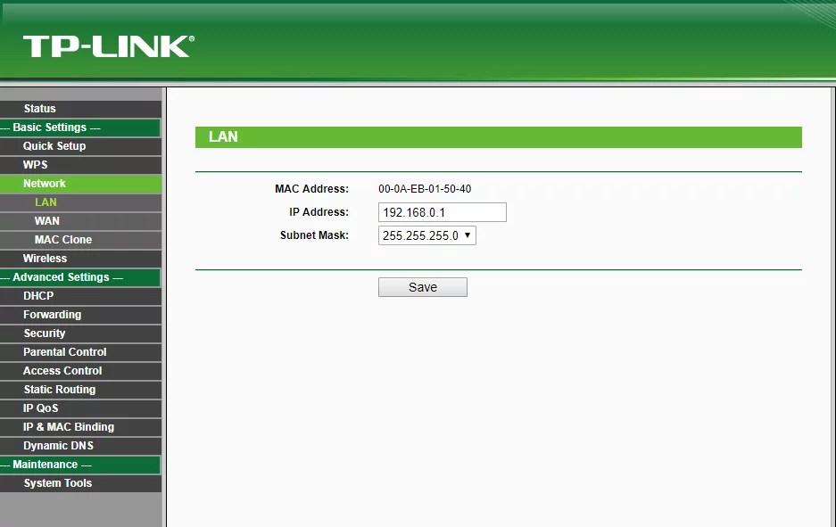 192.168.0.1 - ip correto de configuração do wifi sendo exibido