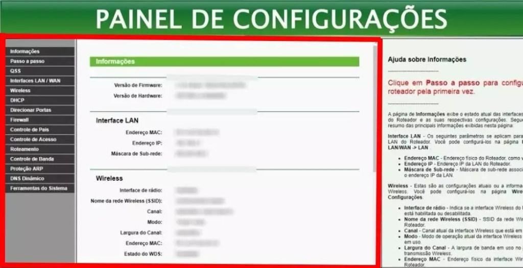 Imagem de login do roteador wifi através do endereço ip 192.168 o 1.1