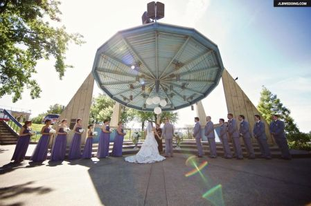 Lanterns Suspended from Bandshell Roof