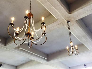 1 Large, 1 Small Brass Chandelier