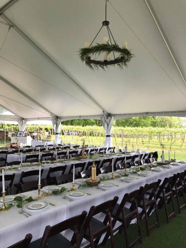 Round Napa Chandelier with Greenery