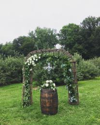 Mini Crystal Chandelier for Ceremony Arch
