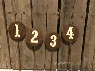 Wood Pick Table Numbers