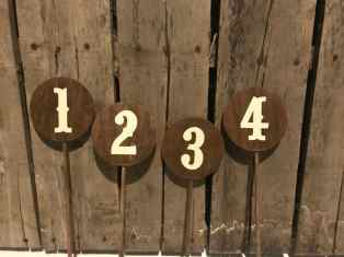 Wood Pick Table Numbers